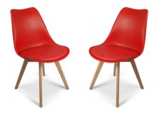 Pair of Red Toulouse Tulip Dining Chairs 1/2 price Deal